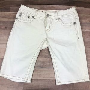 Miss Me White Bermuda Jean Shorts